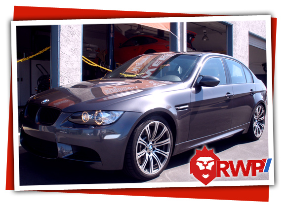 Gunmetal Grey BMW E90 M3 finsih major service and tune-up at RennWerks