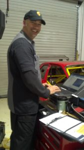 Mike running diagnostics with BMW ICOM