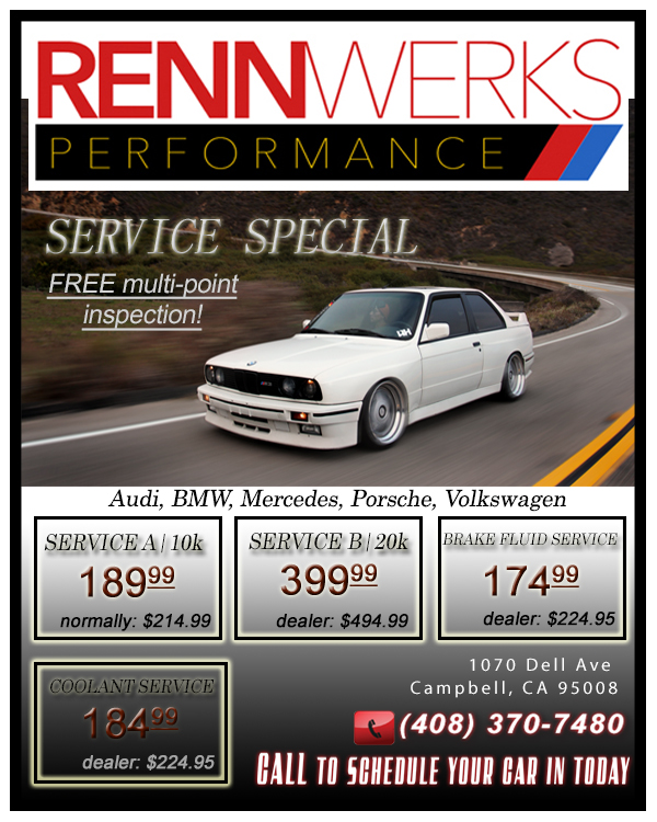 Discounts, Coupons, and Specials on Car repair and service for Audi, BMW, Mercedes, VW, Porsche, Lexus, and Fiat