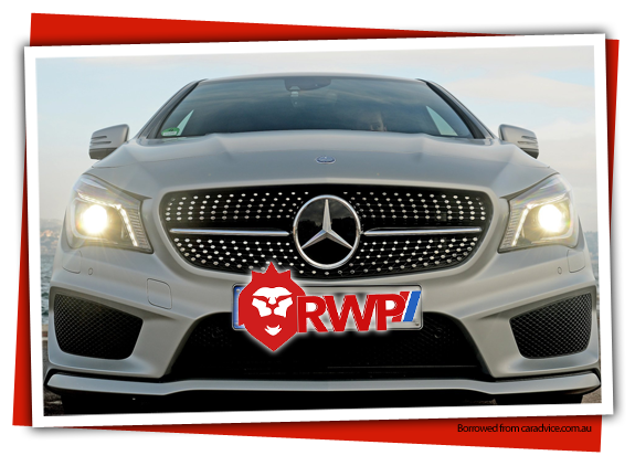 Front grill shot of Mercedes-Benz CLA