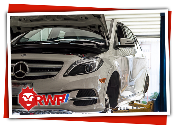 Mercedes E-class getting Service at RennWerks