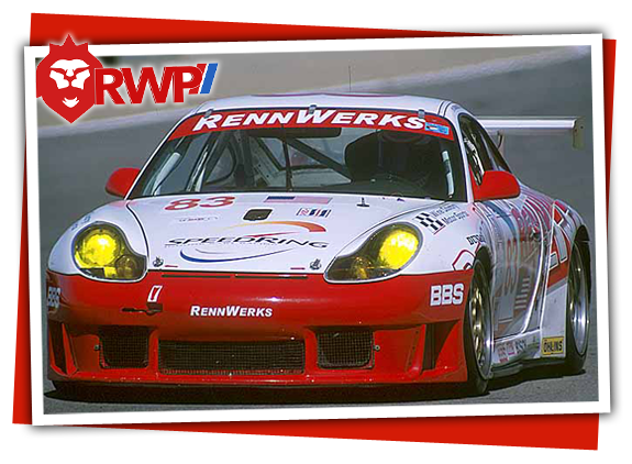Head-on photo of Porsche 996 GT3 Cup Car