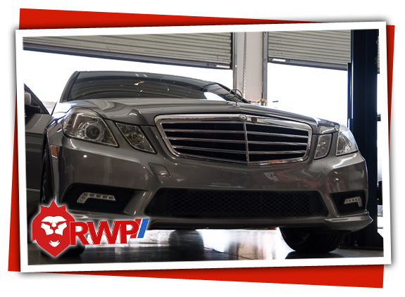 Mercedes E350 3rd Gen in for service