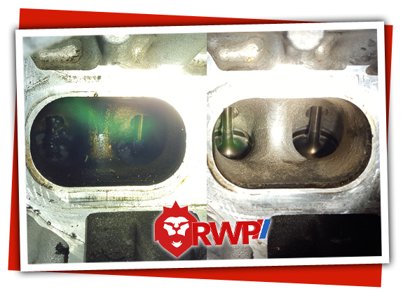 Before and After photos of Valve Decarbonizing on a BMW 335i