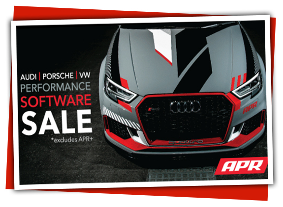 APR Performance Software ECU Tuning Sale for Audi, VW, and Porsche -Starts April 13 and Ends May 15, 2020