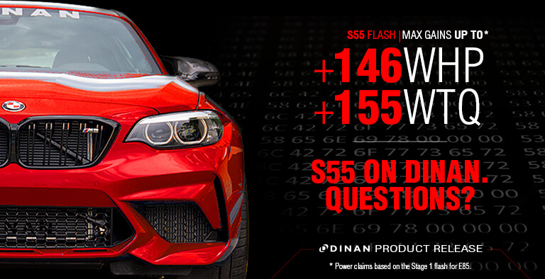 DINAN FLASH TUNE SOFTWARE FOR BMW S55 POWERED M2, M3, M4, F80, F82, F83, AND F87